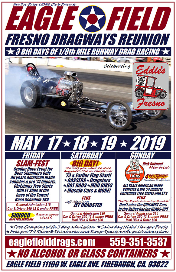 poster of 2019 Annual Fresno Dragways Reunion