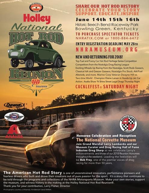 poster of 16th Annual Holley National Hot Rod Reunion