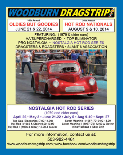 2014 Woodburn Dragstrip Events